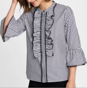 NWT Karl Lagerfeld bell sleeve button up